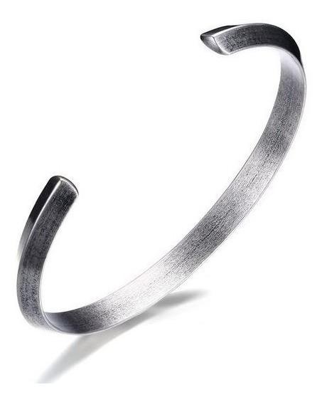 Bracelete Pulseira De Aço Prata Inox Viking Estilo Antigo