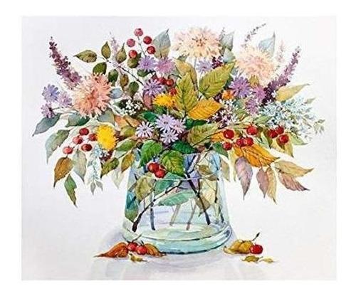 Imagen 1 de 6 de Pintura De Acandyl Por Numeros Flores Diy Pintura Al Oleo Pi