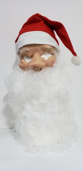 Máscara Mascarilla Papa Noel Barba Y Gorro