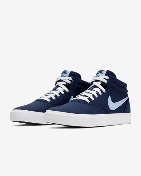 Zapatillas Nike Sb Charge Mid Cnvs - Azul - Vulkano