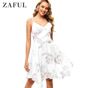 Zaful Vestido De Lenço De Flor De Cami