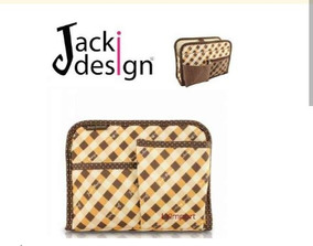 Jacki Design Organizador De Bolsa Xadrez Marrom!!!!