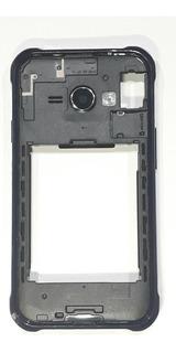 Aro Samsung J1 Ace J110 - Preto Com Borda Azul - Novo!
