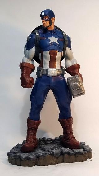 Capitão América Ultimato Escultura Em Resina 40cm