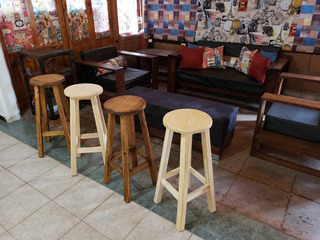 Banco Barra Bar Desayunador Restaurante Cafe Lounge Paq 4 Pz