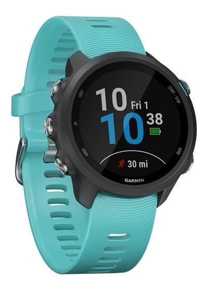 Relógio Garmin Forerunner 245 Music Gps Lançamento Azul Nf