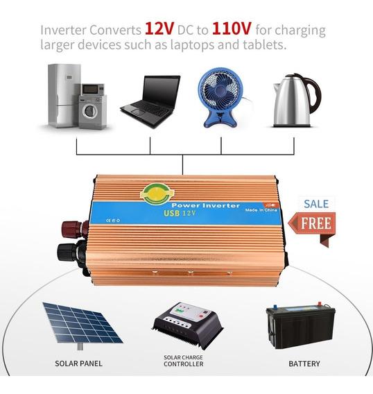 Inversor Solar Xuyuan 12v 110v 60hz 1200w Envio Imediato