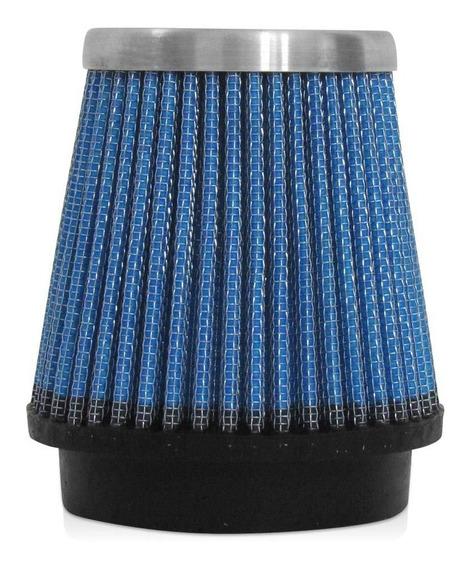 Filtro De Ar Esportivo Tuning Performace Cônico 70mm Azul