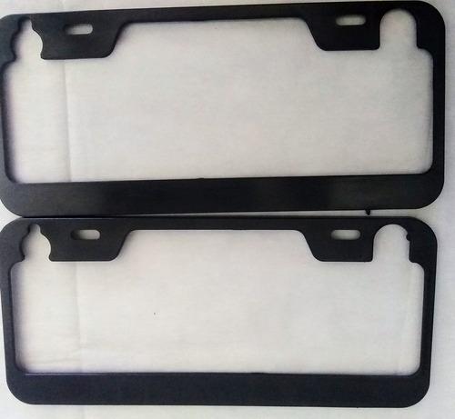 Imagen 1 de 1 de Marco Cubre Patente Negro 2 Unidades