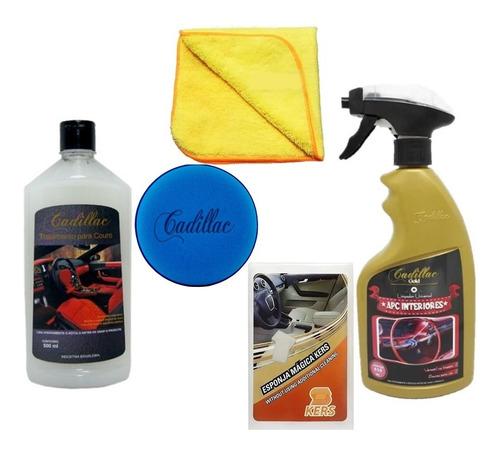 Kit Limpeza Interiores E Hidratação Banco De Couro Cadillac