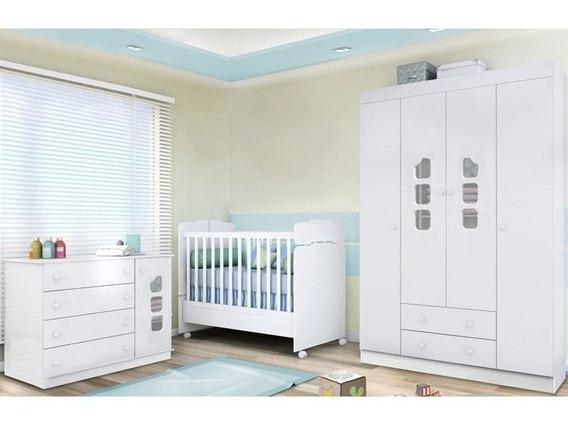 Quarto De Bebê Berço Sonho Encantado Cômoda E Guarda Roupa L