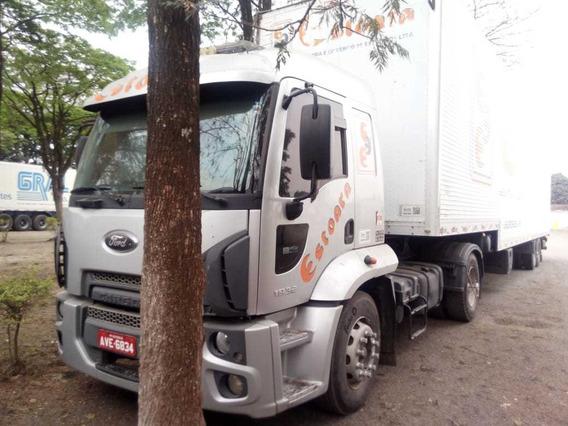 Ford Cargo 1933 2013 Conjunto Carreta Fachini 2014 Bau 120m³