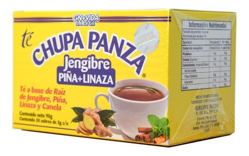 Imagen 1 de 4 de Té Chupa Panza (jengibre, Piña Y Linaza) (30 Sobres) Gn+vida