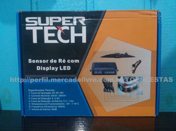 Sensor De Estacionamento Super Tech Com Display Carro