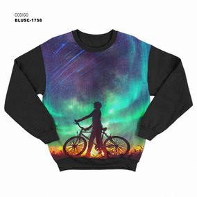 c0f3684a4b864e Blusa De Frio Moletom Psicodélica Bike Child