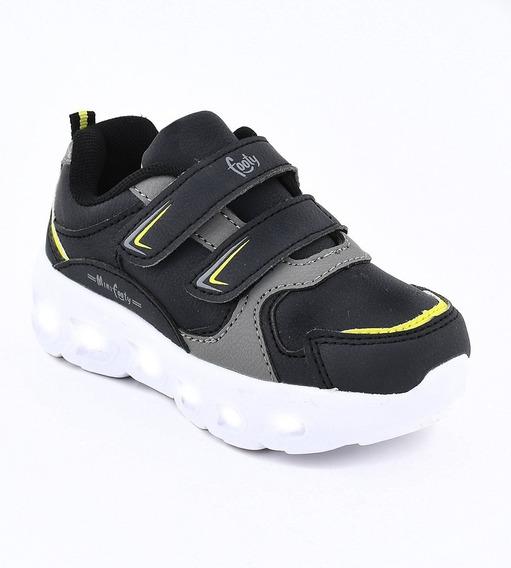 Zapatillas Footy Con Luz Led Y Abrojos