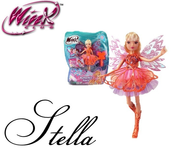 Boneca Winx Stella Butterflix - 30 Cm - Original