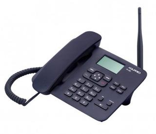 Telefone Celular De Mesa Rural Ca-42s Aquário Com 2 Chip Sim