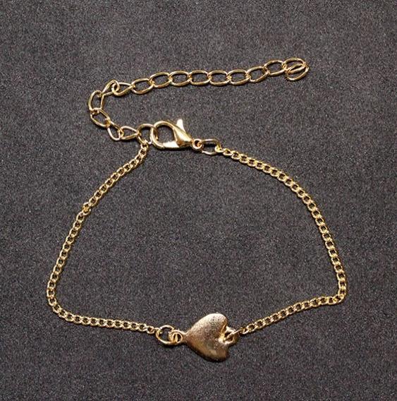 62693050c - Pulseira Folheado Ouro 18k Coração