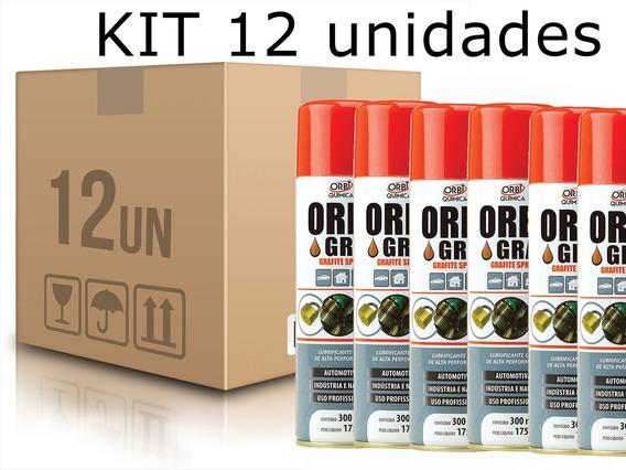 Kit 12 Grafites Spray 300ml Orbi- 4802