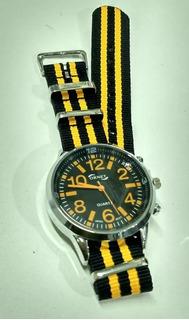 Reloj Ornet Hombre Caja Metal Malla Nato Wr Garantia Oficial