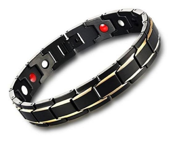 Pulseira Magnética Fir Energética Unissex Bracelete Aço Inox