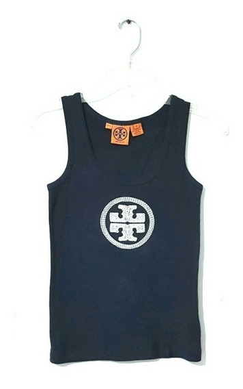 Tory Burch Tank Top Dama Camiseta Tb Logo Bordado Embroidery