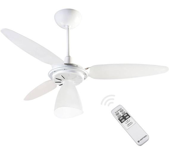 Ventilador De Teto Ventisol Wind Light Com Controle Remoto - 130w - Econômico - Silencioso - 127v