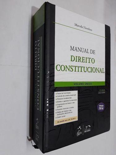 Livro Manual De Direito Constitucional Marcelo Novelino