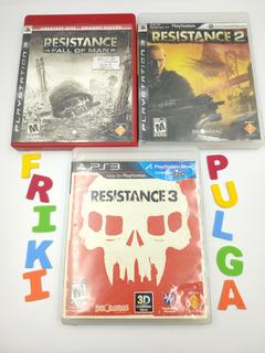 Trilogia Resistance Usado Ps3 Perfecto Estado