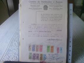 21 - Documento Com Selos De Fiscais Do Brasil