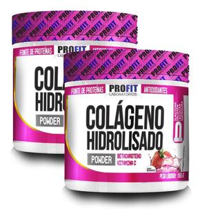 2x Colágeno Hidrolisado 150g - Betacaroteno + Vit C - Profit