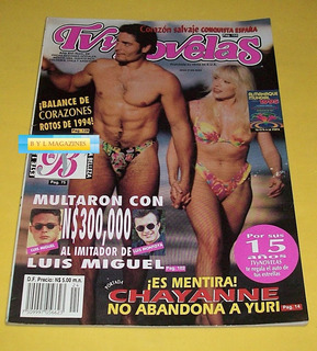 Yuri Revista Tv Y Novelas 1994 Chayanne Pedro Infante Lucero