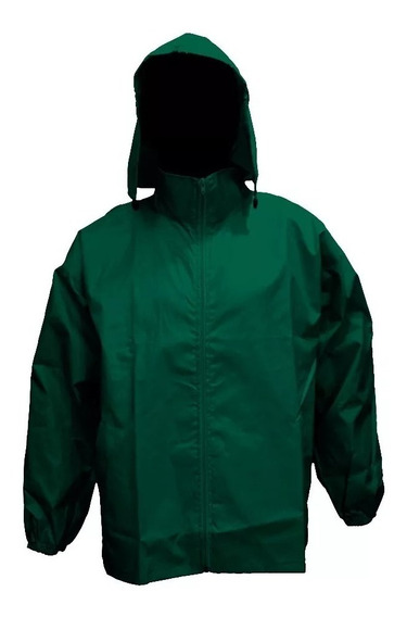 Rompeviento Impermeable Liso Verde
