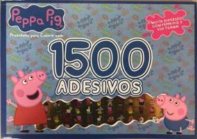 Peppa Pig - Prancheta Para Colorir Com 1500 Adesivos - Vol.