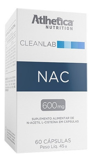 Cleanlab Nac 600mg Cx C/ 60 Capsulas - Atlhetica Nutrition