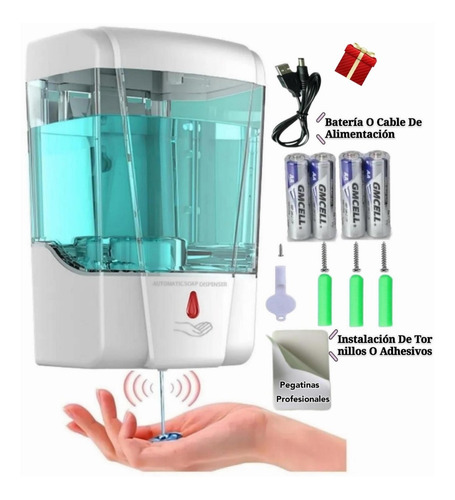 Imagen 1 de 10 de Dispensador Automatico Despachador Gel Antibacterial Jabon