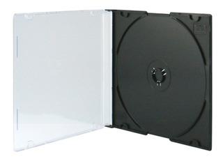 Cajas Acrilicas Cd Dvd Slim 5mm Negra E1044+