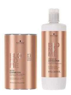 Polvo Decolorante Blondme Schwarzkopf + Peróxido De 30 Vol