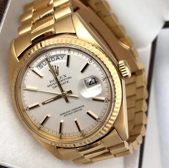 Relógio Masculino Rolex Original Ouro 18k Oyster Perpetual
