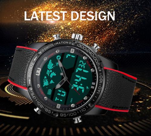 Relógio Masculino Esportivo Boamigo Cronógrafo Fundo Duplo