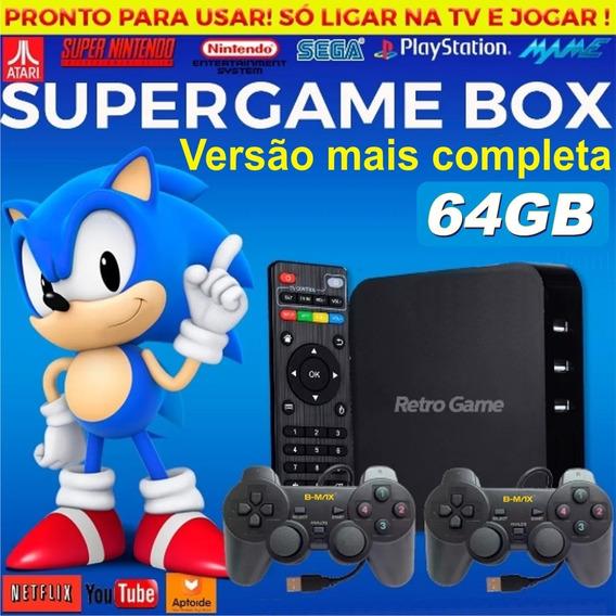 Super Game Box - Video Game Multijogos Jogos Antigos - 64gb