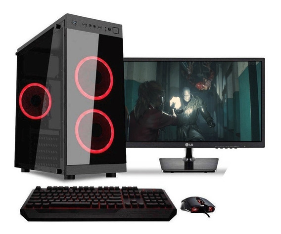 Pc Gamer Completa Intel Core I3 8100 Cuotas 1tb 8gb Ram