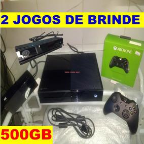 Xbox One 500gb 2 Controles Kinect 2 Jogos Garantia Seminovo