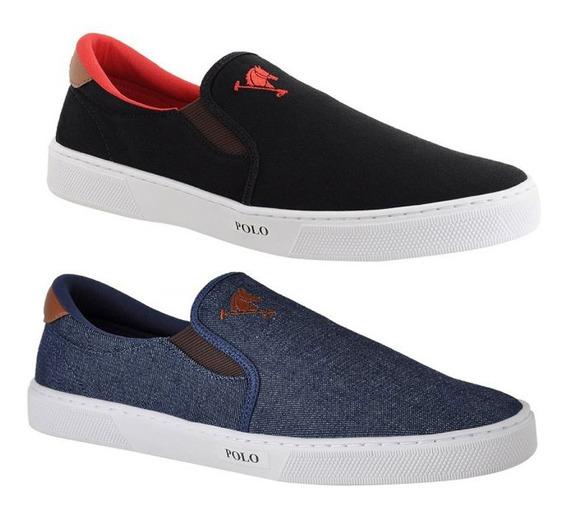 2 Sapatenis Alpargata Elástico Sapato Polo Joy Iate Original