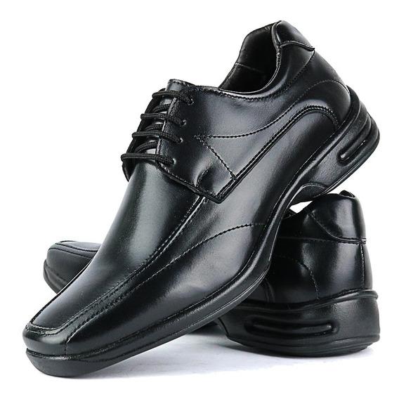 Sapato Social Luxo Bico Quadrado Masculino Antistress