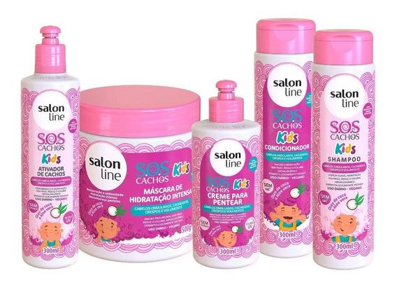 Kit Sos Kids 5 Produtos Salon Line