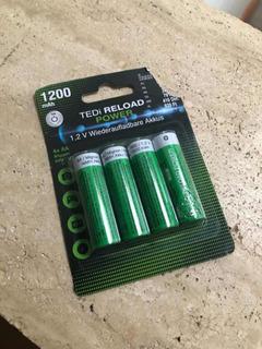 Baterias Recargables 2 Aa, 1200 Mah . Europeas 9v