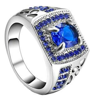 Anel Formatura Masculino Administração Curso Safira Azul 627