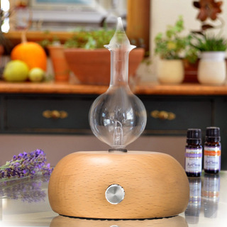 Led Madera Y Vidrio Aromaterapia Óleos Esenciales Difusor Ar